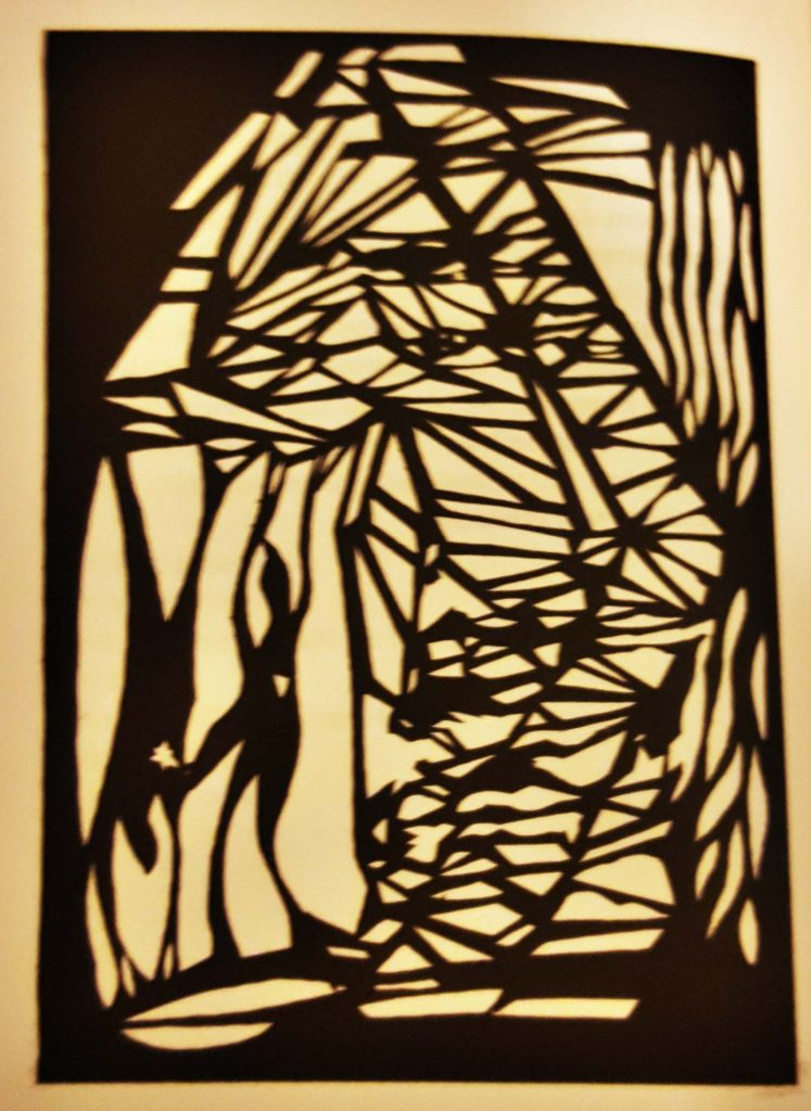 Jo Kuehn, paper cut