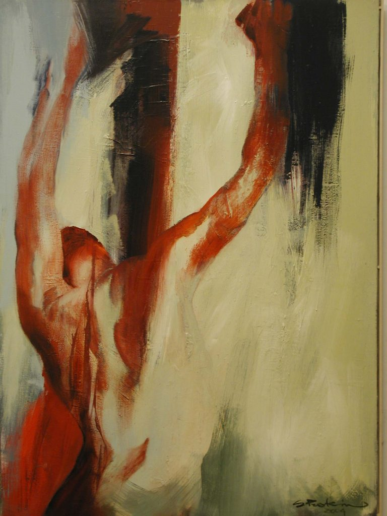 Sirje Petersen, Hangs – oil on canvas