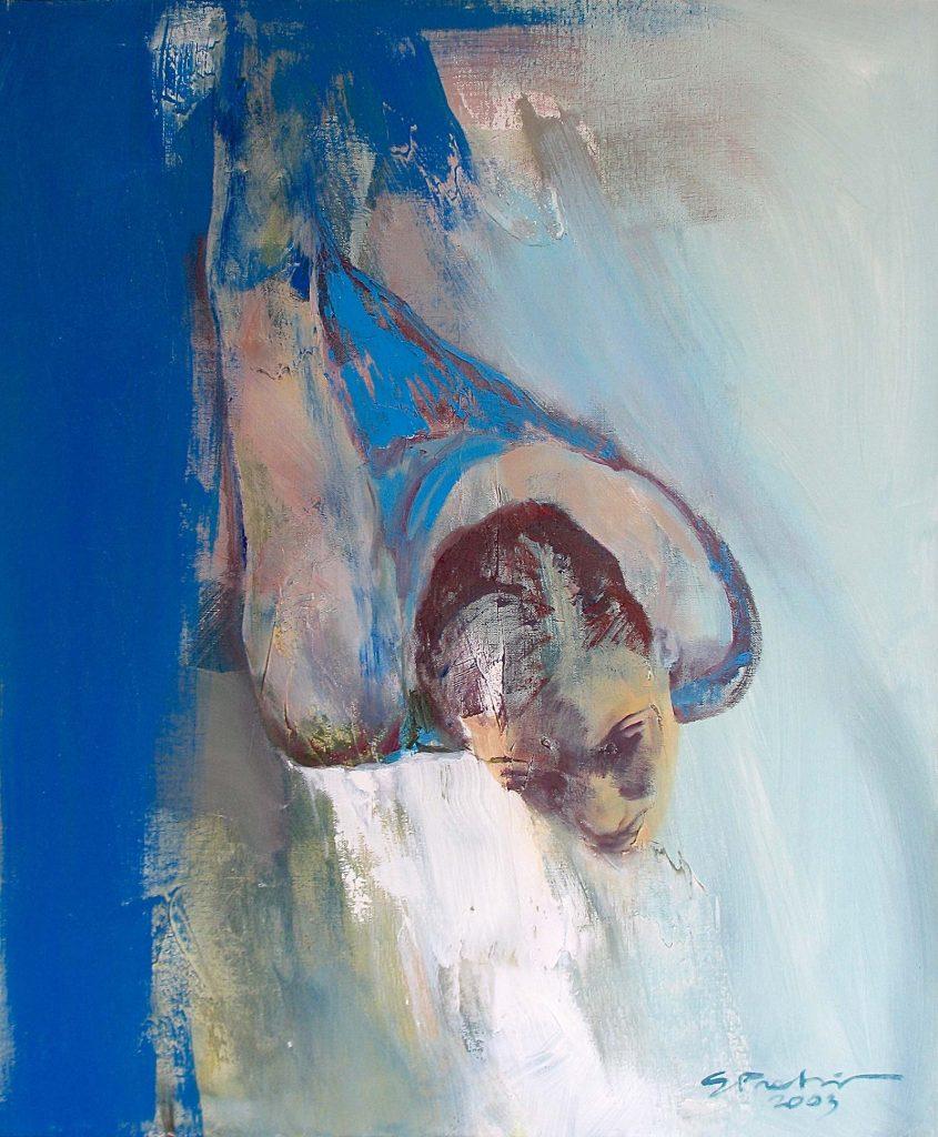 Sirje Petersen, Slide – oil on canvas