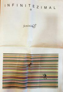 """Coperta revistei Infinitezima, numărul dedicat temei: """"Femininul"""""""