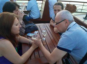 Traducând și pe vasul cu zbaturi de pe lacul Balaton © foto Peter Sragher