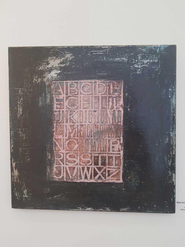© Mirel Ologeanu, Alfabet, tehnică mixtă, 2017 - MNLR, Bienală de carte bibliofilă și de carte obiect