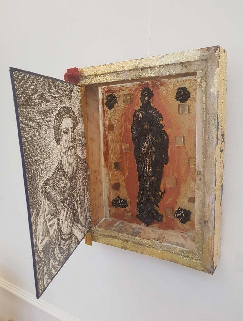 © Reka Dup Csapo Descriptio Romaniae - tehnică mixtă - MNLR, Bienală de carte bibliofilă și de carte obiect