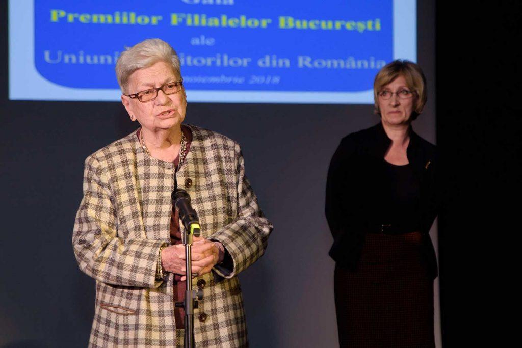 Sanda Oprescu responsum la primirea premiului Opera Omnia © foto Savu Mihuț