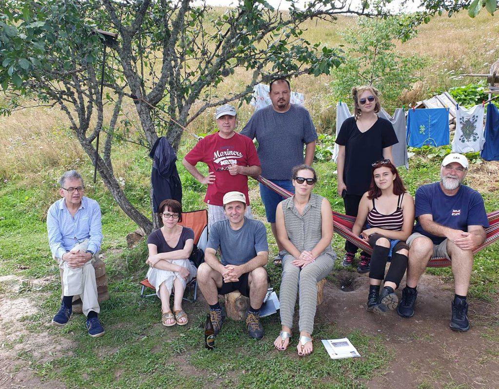 Toți participanții la tabăra de poezie Fluturica © foto Andrei