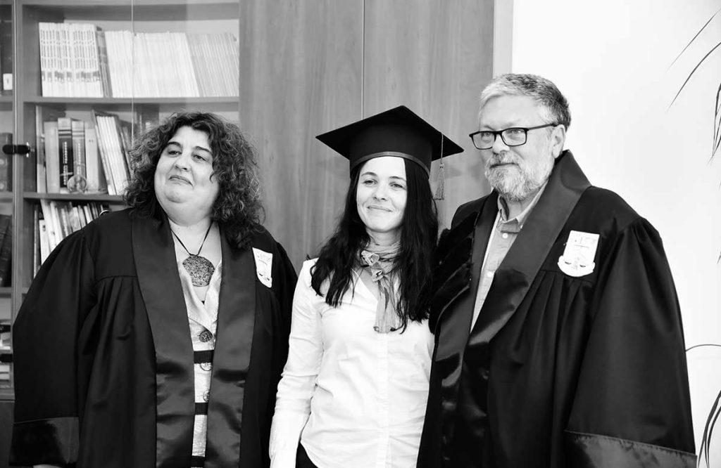 Antoaneta Olteanu traducătoarea operei scriitorului rus alături de familia Siskin