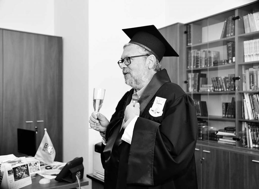 Un discurs informal al proaspătului Doctor honoris causa