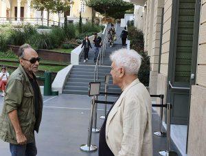 Giorgos Aristinós & Stavros Deligiorgis discutând © foto Peter Sragher