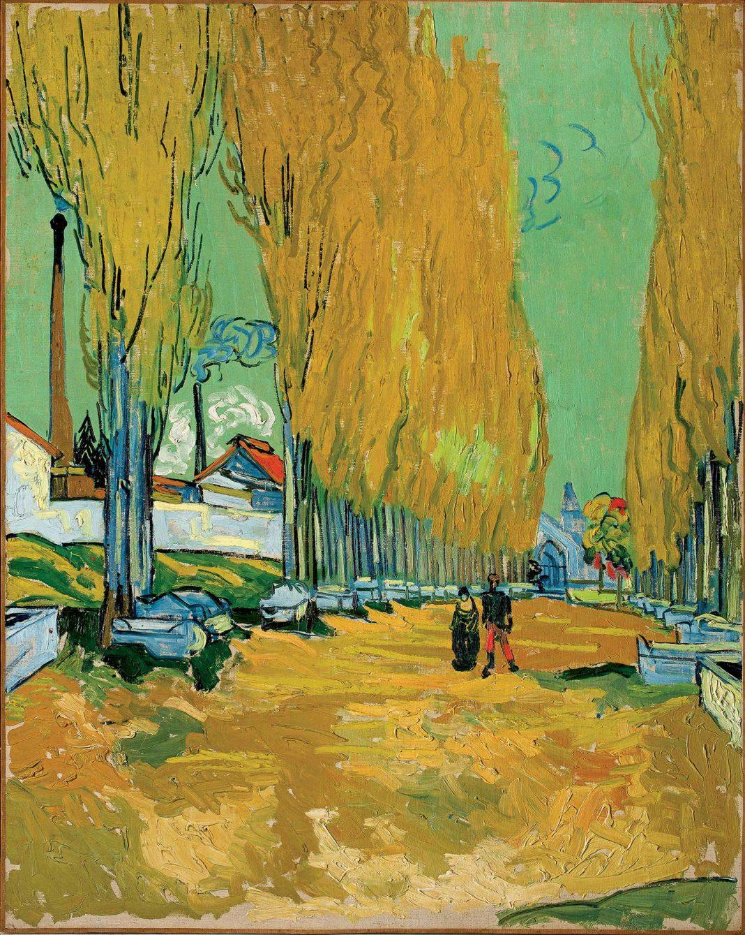 Vincent van Gogh, Alyscamps, 1888, ulei pe pânză © foto Basil & Elise Goulandris Foundation