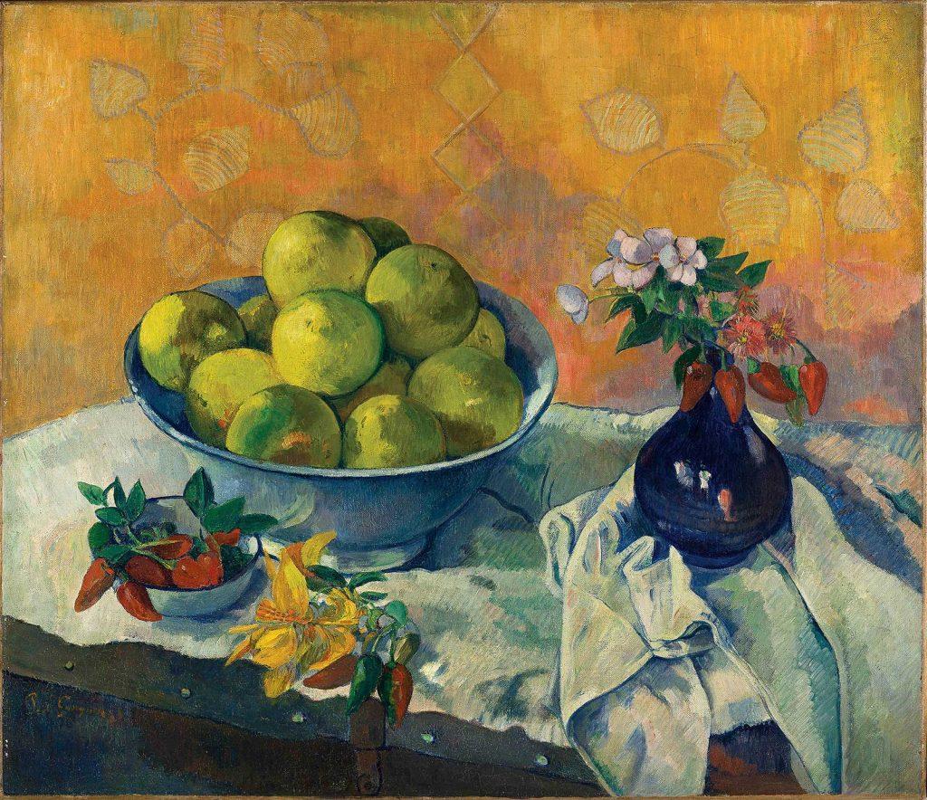 Paul Gaugain, Natură moartă cu grapefruit, 1901 sau 1902, ulei pe pânză © foto Basil & Elise Goulandris Foundation