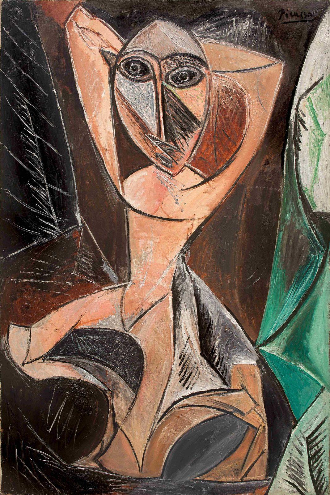 Pablo Picasso, Femeia goală cu brațele ridicate, 1907, ulei pe pânza © foto Basil & Elise Goulandris Foundation
